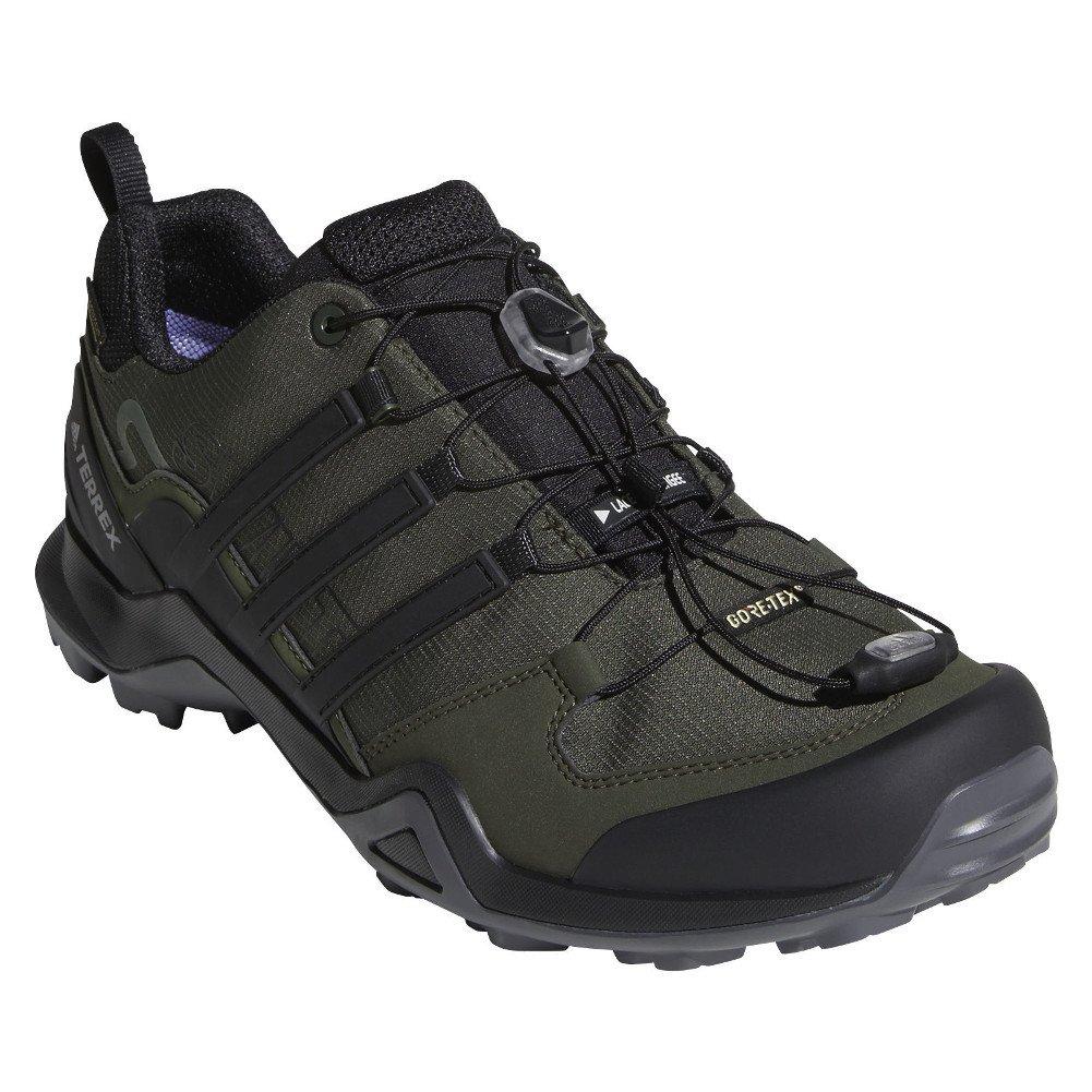 adidas outdoor Terrex Swift R2 GTX Mens Hiking Boot Night Cargo/Black/Base Green, Size 6