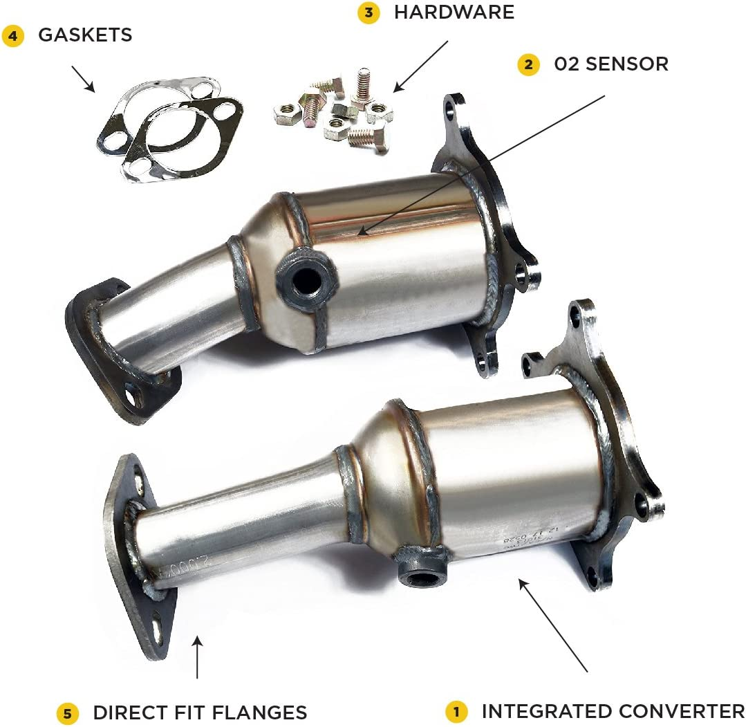 Fusion Lincoln MKS MKX Mercury Sable MKZ Taurus V6 3.5L Front /& Rear Manifold OBDII Direct Fit with Gaskets Included Flex Catalytic Converter Replacement for Ford Edge