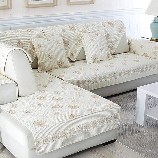 AA-Sofa Slipcovers SFTAO Funda de sofá de algodón, Funda de ...