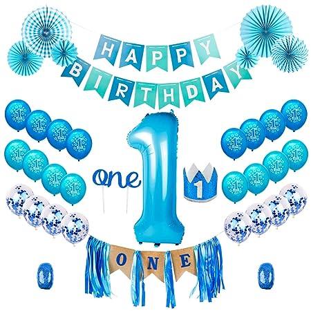 Amazon.com: QIFU - Kit de decoración para primer cumpleaños ...