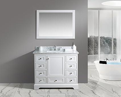 UrbanFurnishing.net Jocelyn 42 Inch (42u0026quot;) Bathroom Sink Vanity Set With