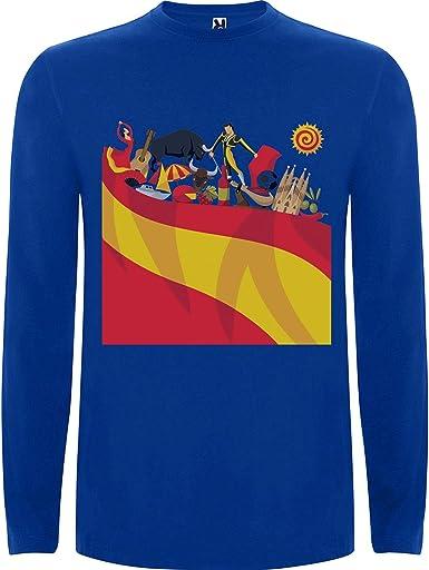 Lilij Camiseta Hombre Manga Larga Spain Espana Spanien Spagna ...