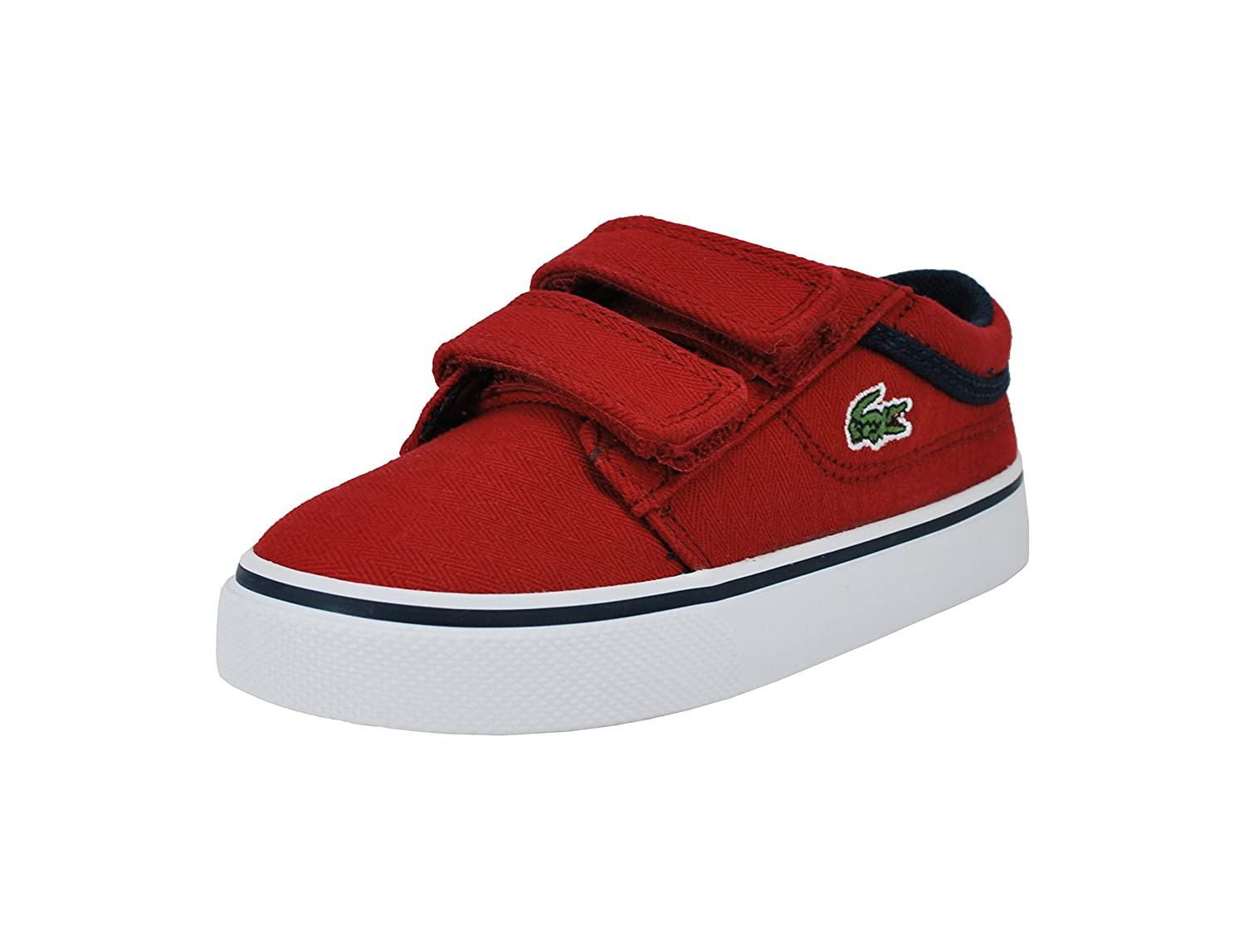Amazon.com: LACOSTE Vaultstar 3161 Red/Navy Canvas Sneakers 7-32SPI0111112 Infant/Toddler Shoes (6.0 M US Toddler): Shoes