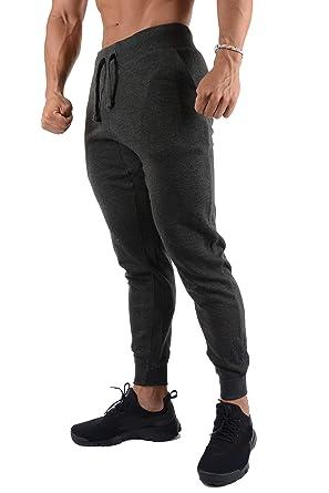 d727ca158d9d84 YoungLA Joggers Pants for Men Slim Fit Casual Lounging Gym Sweatpants 220  Charcoal Small