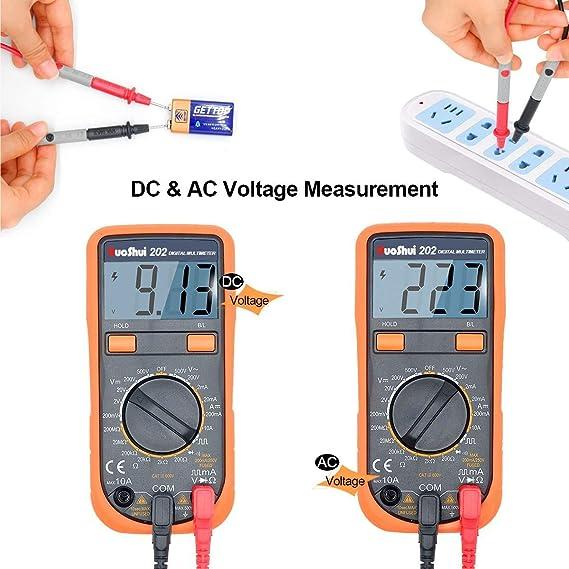 Digital Multimeter Krokodilklemme Voltmeter Amperemeter Ohmmeter Ac Dc Spannung Dc Strom Widerstand Dioden Transistor Akustischer Durchgangsprüfer Mit Lcd Hintergrundbeleuchtung Baumarkt