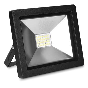 kwmobile foco proyector LED de exteriores de 20W - reflector de luz para trabajo con cable de 3m y enchufe - lámpara resistente al agua: Amazon.es: ...