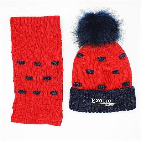 5e85505ca42 Aihifly Cozy Kids Warmer Set Pompom Design Winter Kids Beanie Hat Scarf  Unisex 2 Pieces Winter