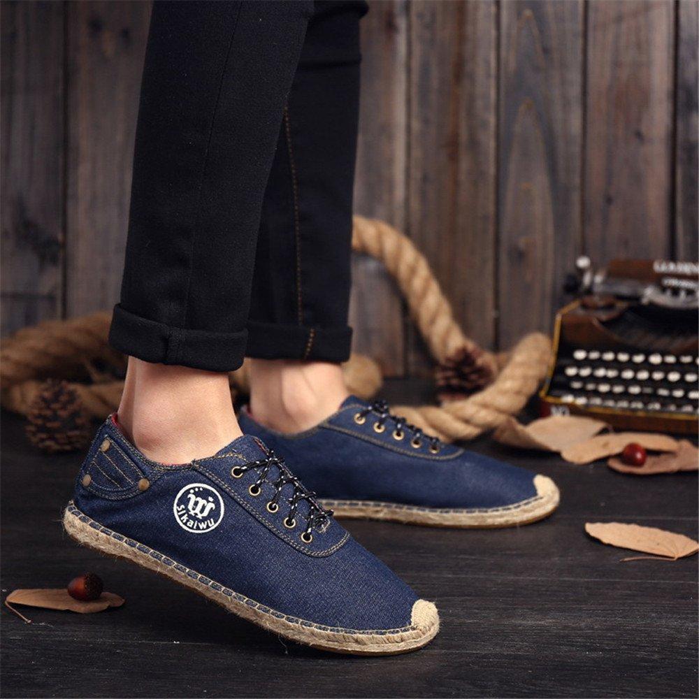 Uomini espadrilli, moda moda moda casual tela le scarpe respirabile espadrilli basso per aiutare l'inghilterra,blu,41 0e0059