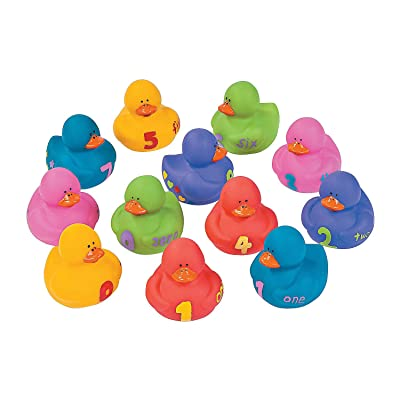 Fun Express 123'S Rubber Duckies - 12 Pieces - Educational and Learning Activities for Kids: Toys & Games