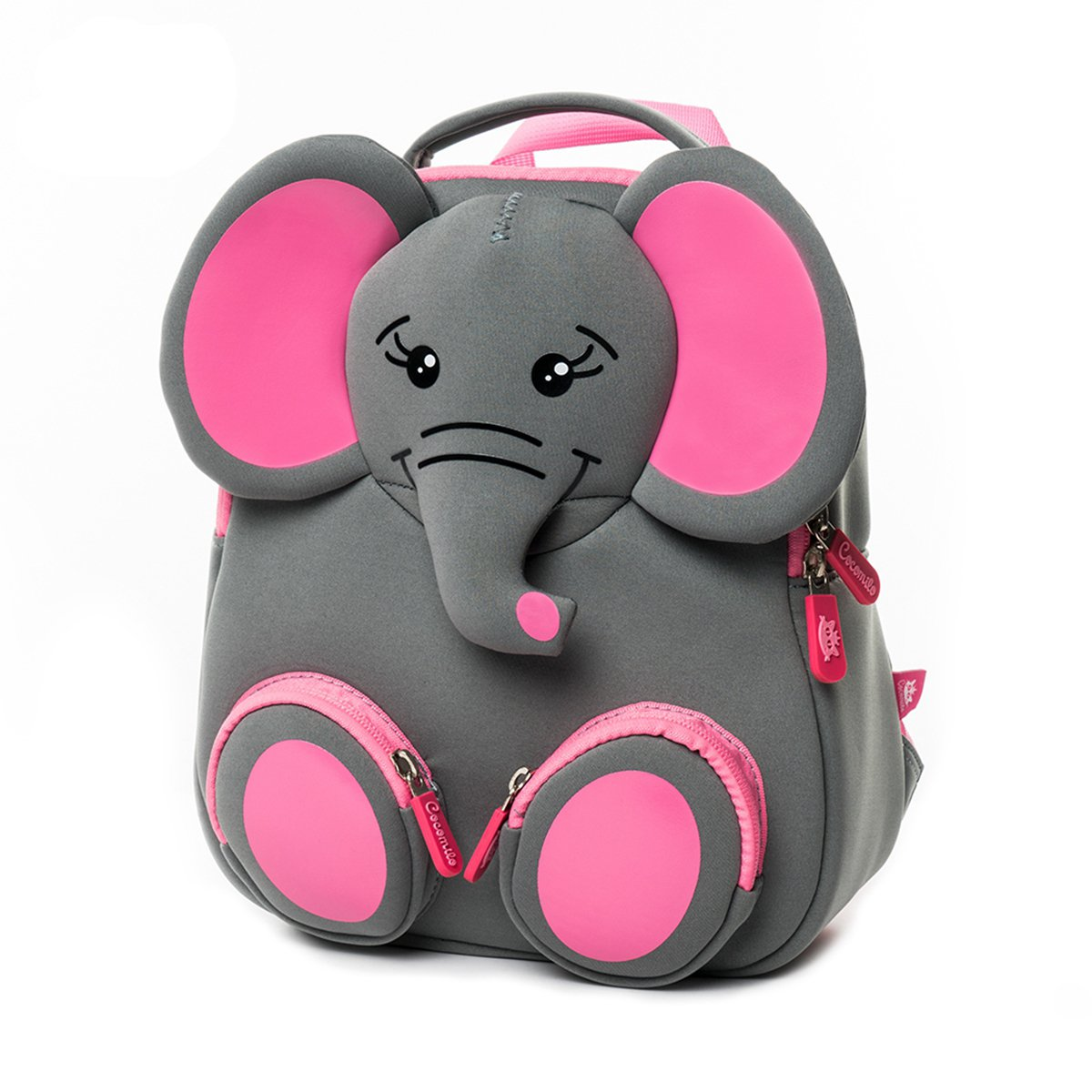 Cocomilo Toddler Elephant Backpack for Boys and Girls Waterproof Preschool Baby Bag with Anti Lost Leash for Kids