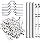 200PCS Nose Bridge Strips for Mask, Aluminum Metal Nose Strip, Adjustable Nose Clips Wire for DIY Face Mask Making Accessorie