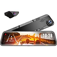 "WOLFBOX Mirror Dash Cam Front and Rear Camera,12"" IPS Full Touch Screen,1296P HD Smart Rear View Mirror for Cars…"