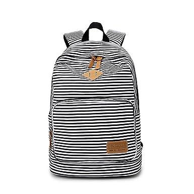 823cbddc7614 Feminine Striped Women Canvas Backpack Teenage Backpacks For Teen Girls  Teenagers Bagpack Youth Female Mochila Feminina
