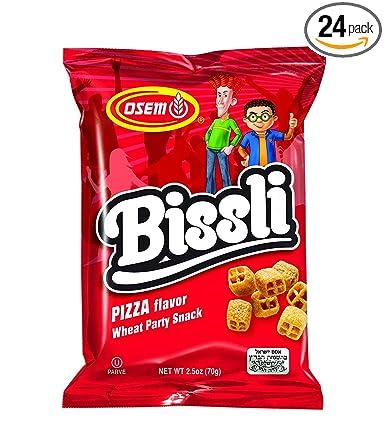 Bissli Osem Israeli Crunchy Wheat Snack Pizza Flavored Original Taste 70 gr