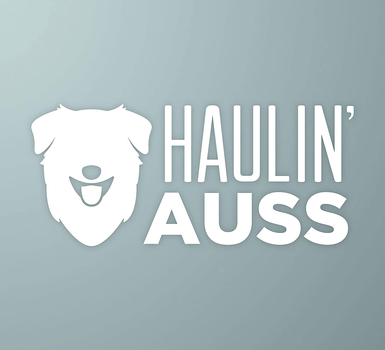 Haulin/' AussAustralian Shepherd Vinyl Dog Window Decal Sticker