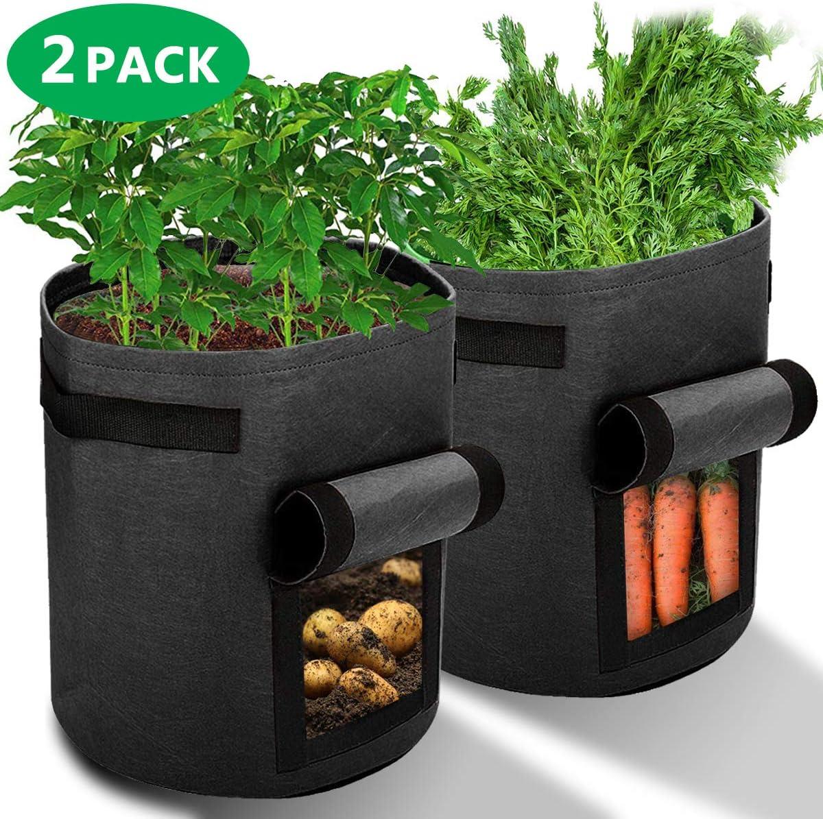 Ankier Potato Growing Bags 2 Pack 7 Gallon Vegetable Grow Bags