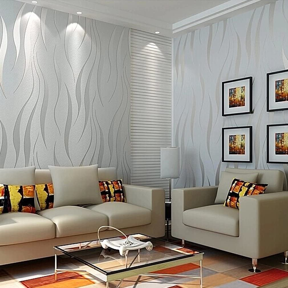 Modern Non Woven 3d Wallpapers Pattern Environmental Protection