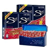 Stride 炫迈 泰国进口 无糖口香糖28片装50.4g*4盒装 口味可选 (水密西瓜味双盒装)