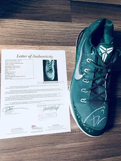 f7c39b0dc3f8 Giannis Antetokounmpo Greek Freak Bucks Autographed Signed Nike Kobe Shoe  Sz18 JSA Full Coa