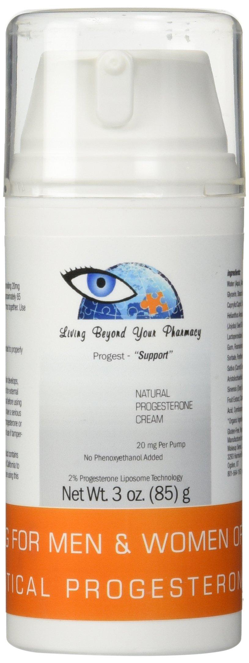 Progesterone Cream Bio-Identical USP - NO Phenoxyethanol - 3oz Bottle - All Natural Premium Fast Absorbing Fruit Extract Based Progesterone for Women & Men