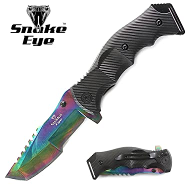 Snake Eye Tactical Heavy Duty Huntsman Folding Pocket Knife Outdoors Hunting Camping Fishing
