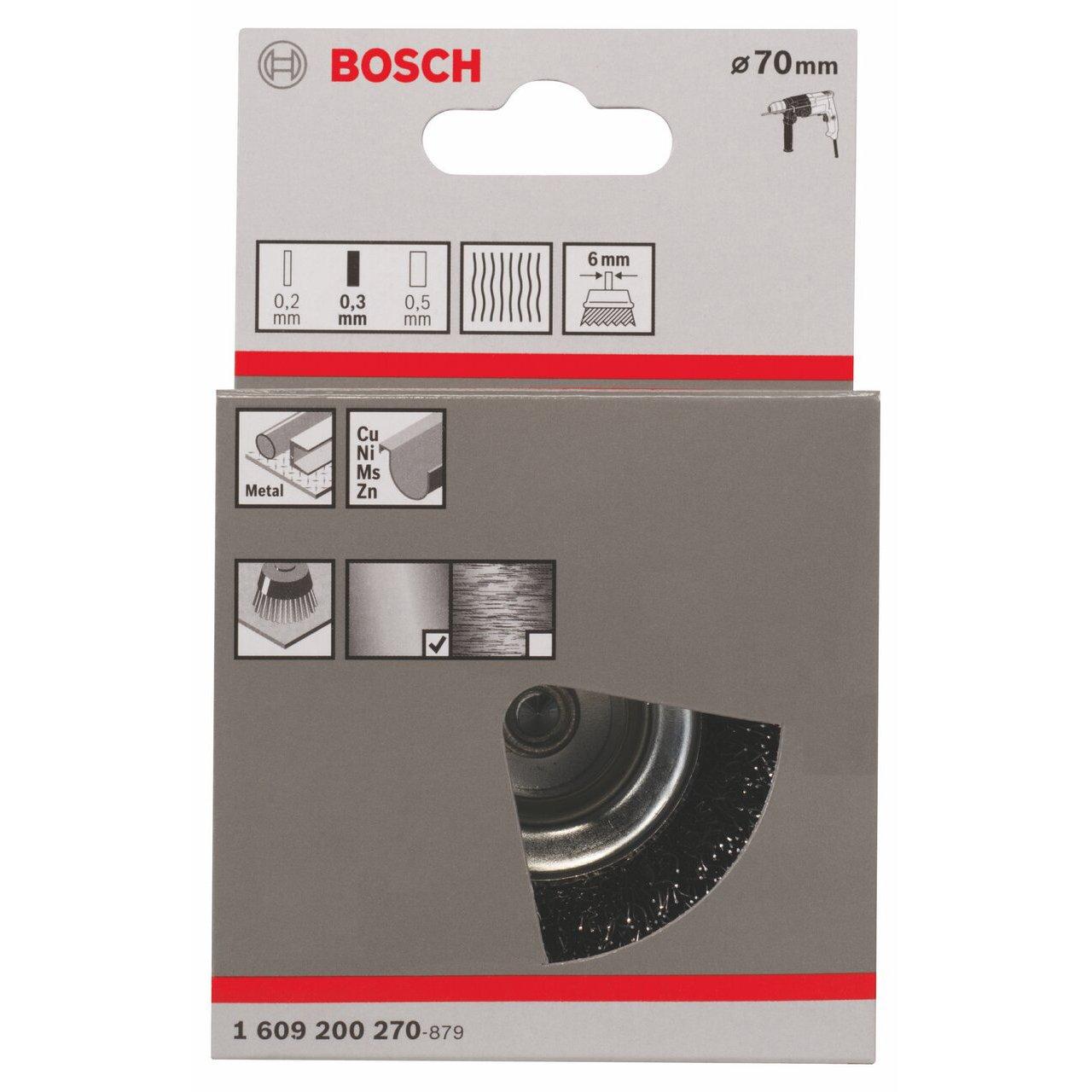 Bosch Professional 1609200270 Schleifzubeh/ör Topfb/ürste 70  mm Grob