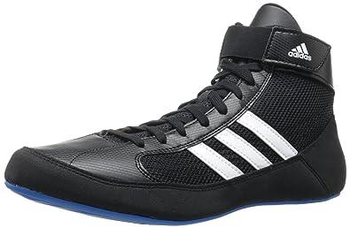 Adidas Wrestling Men's HVC Wrestling Shoe,Black/Running White/Pride Blue,15