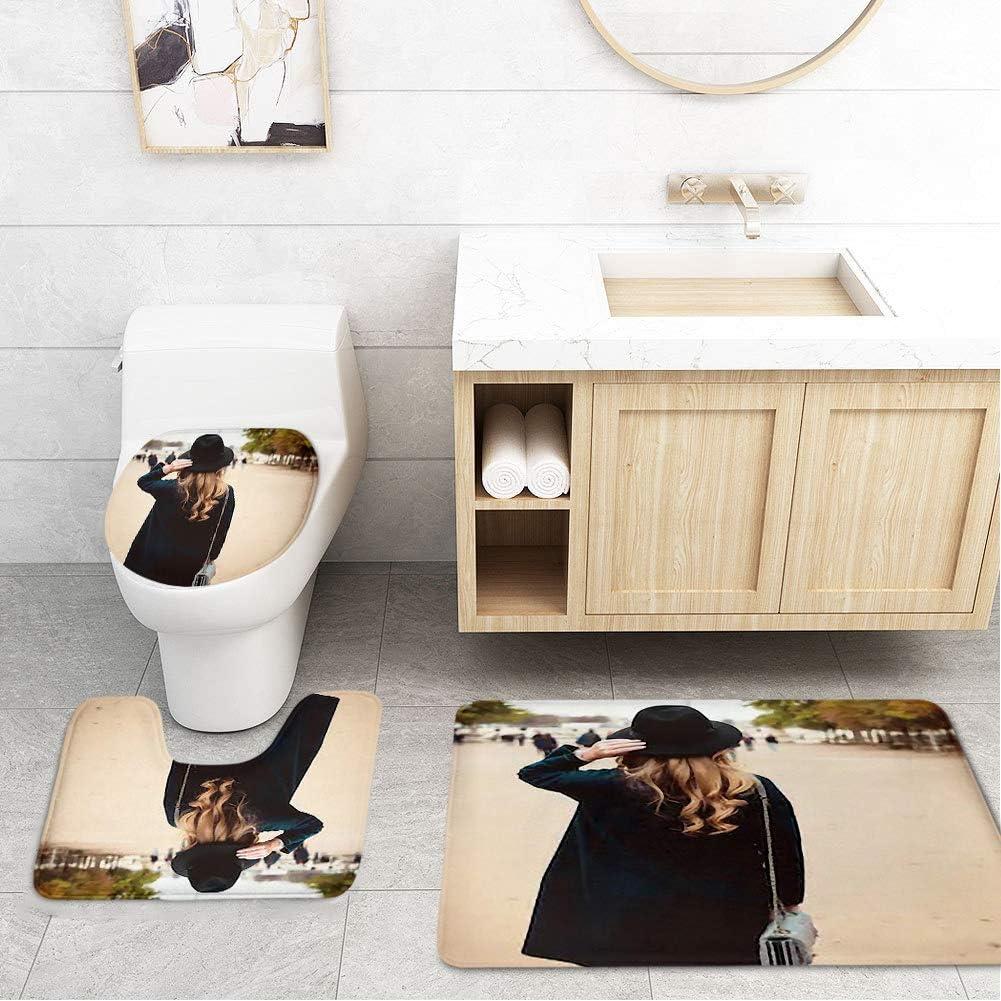 Amazon.com: Bathroom Toilet Mats Lid Sets Rugs 5-Piece, Beautiful