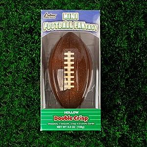 Chocolate Football - Hollow Double Crisp Chocolate Mini Football