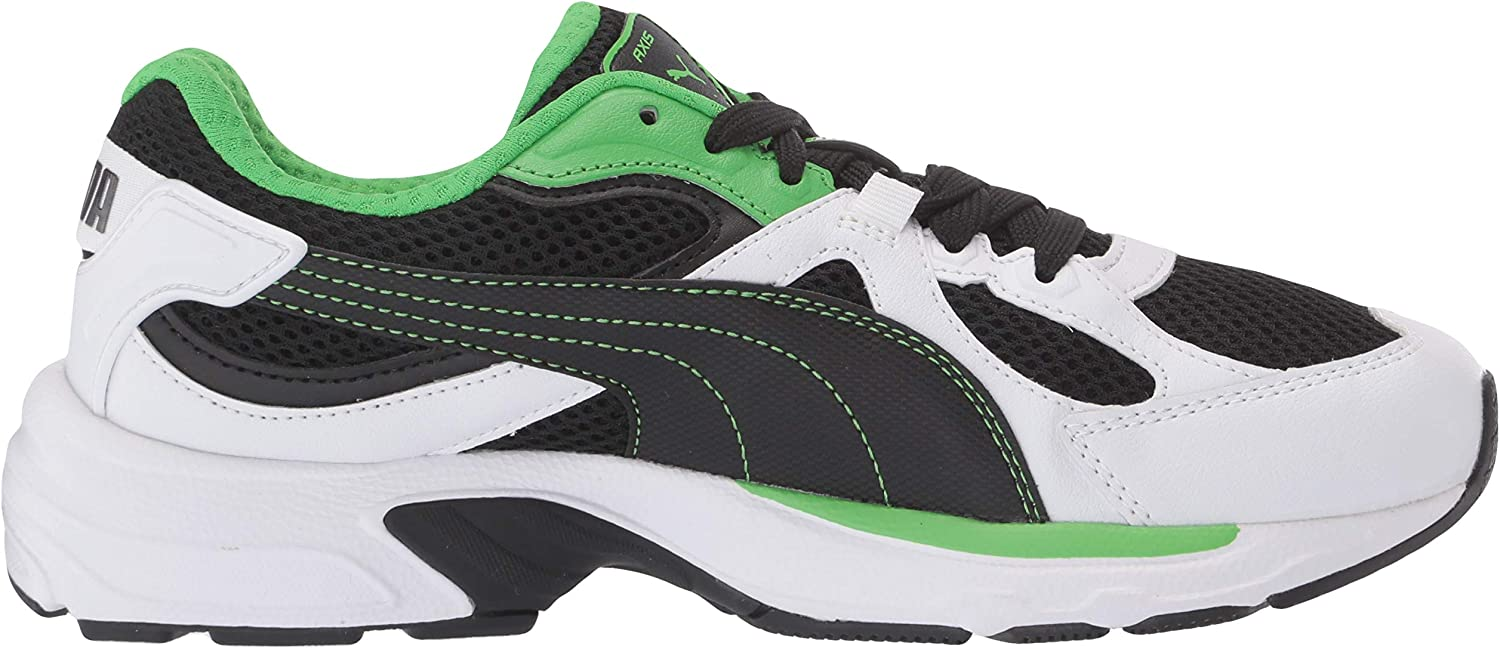 Puma Axis, Baskets Mixte Adulte White Black Classic Vert
