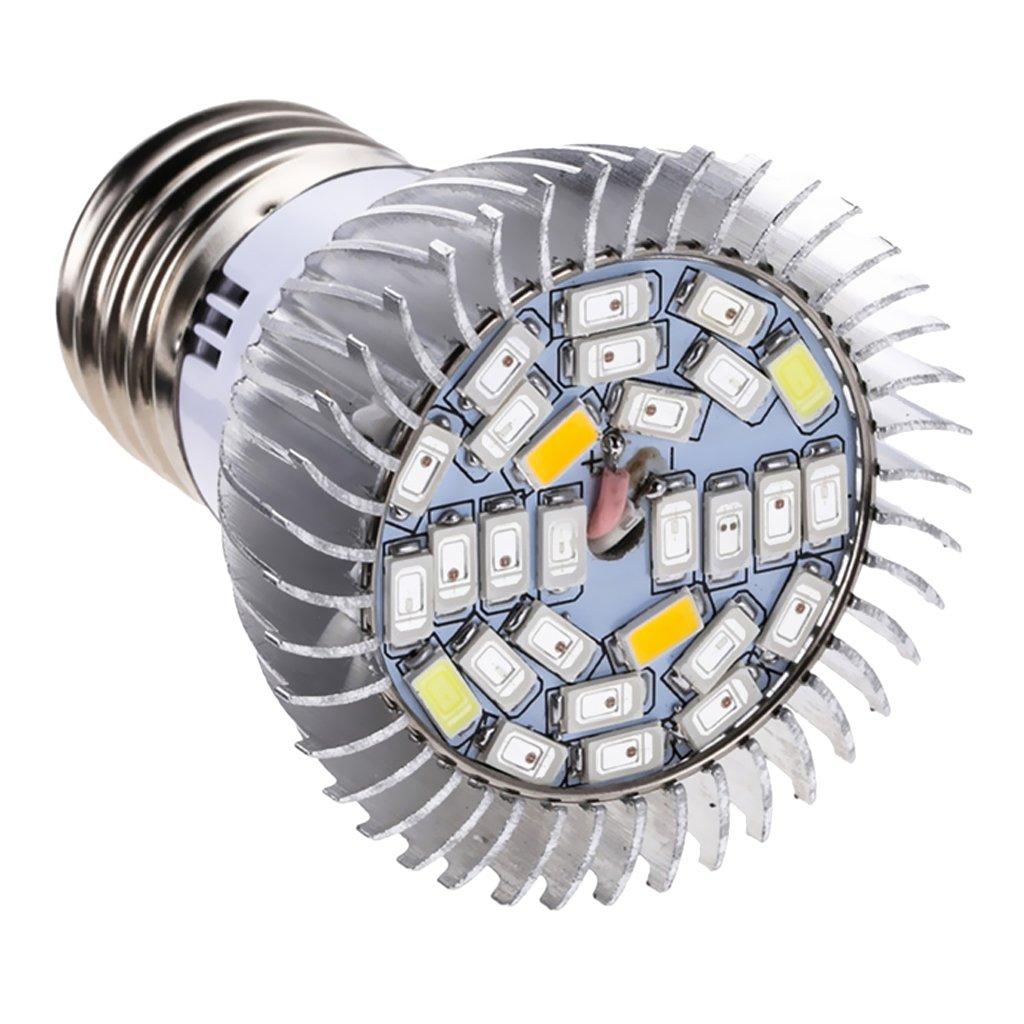 MagiDeal Vollspektrum LED Pflanzenlampe E27 Pflanzenleuchte Pflanzen Wachstumslampe - 10w , 4,7 x 6,3 cm