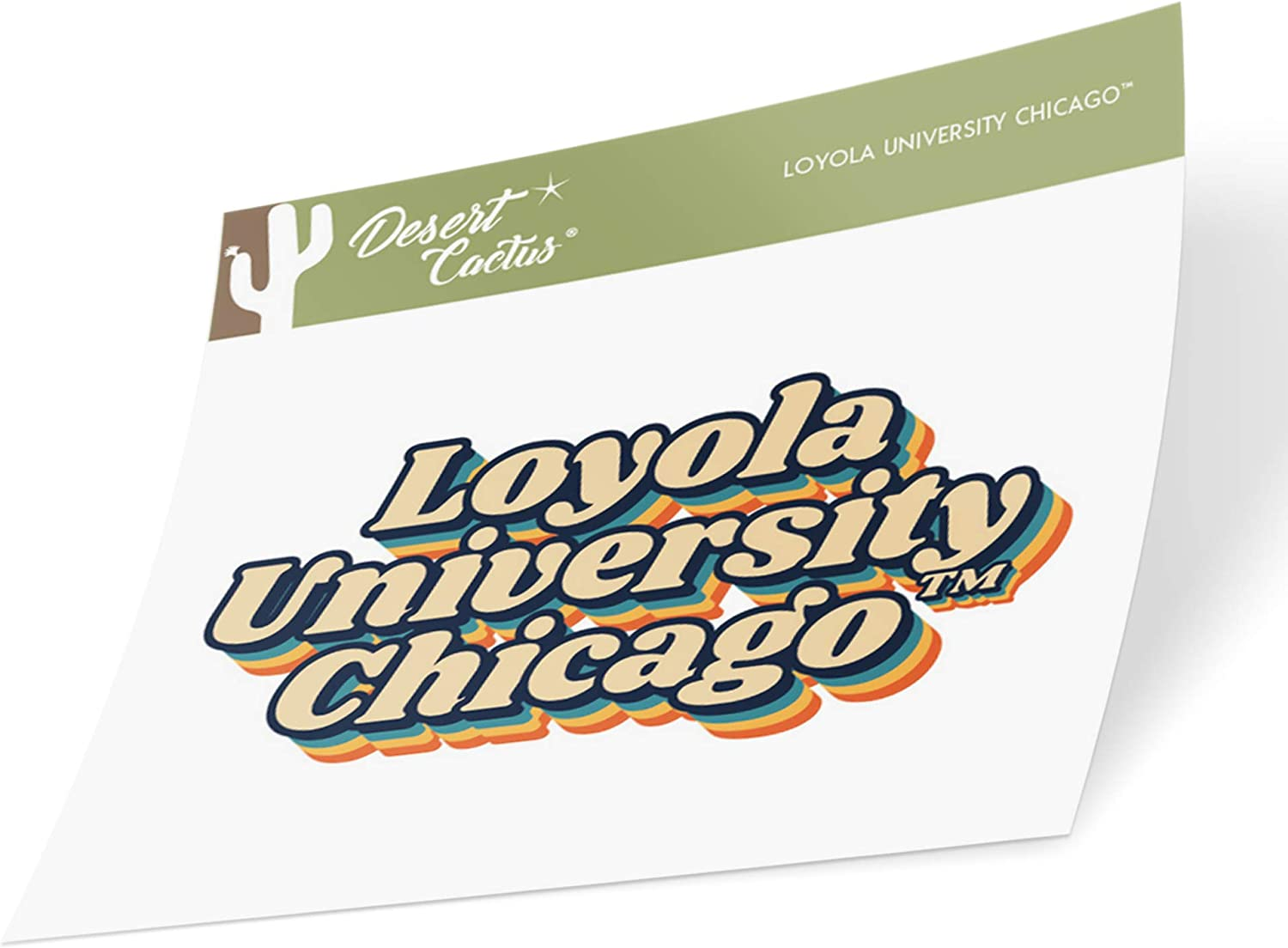 Loyola University Chicago LUC Ramblers NCAA Vinyl Decal Laptop Water Bottle Car Scrapbook (70's Name Sticker)