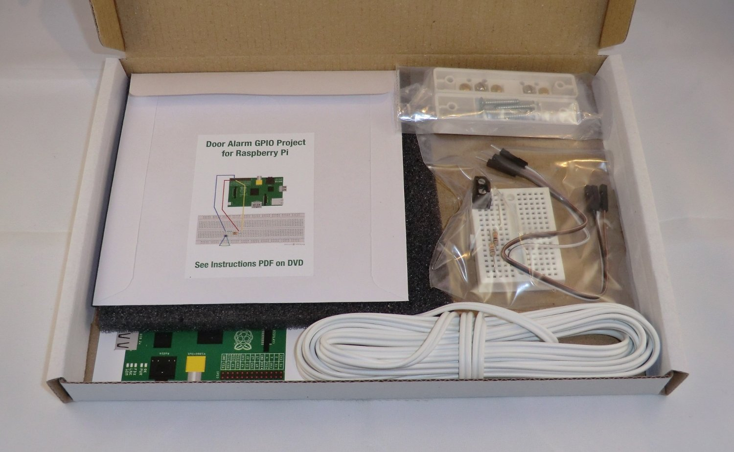 Door Window Alarm Gpio Project Kit For Raspberry Pi Wiring Multiple Reed Switches Includes Breadboard Magnetic Switch Sensor Three Metres Of Bell Wire Resistors Connection Wires To Also Easy Follow Pdf