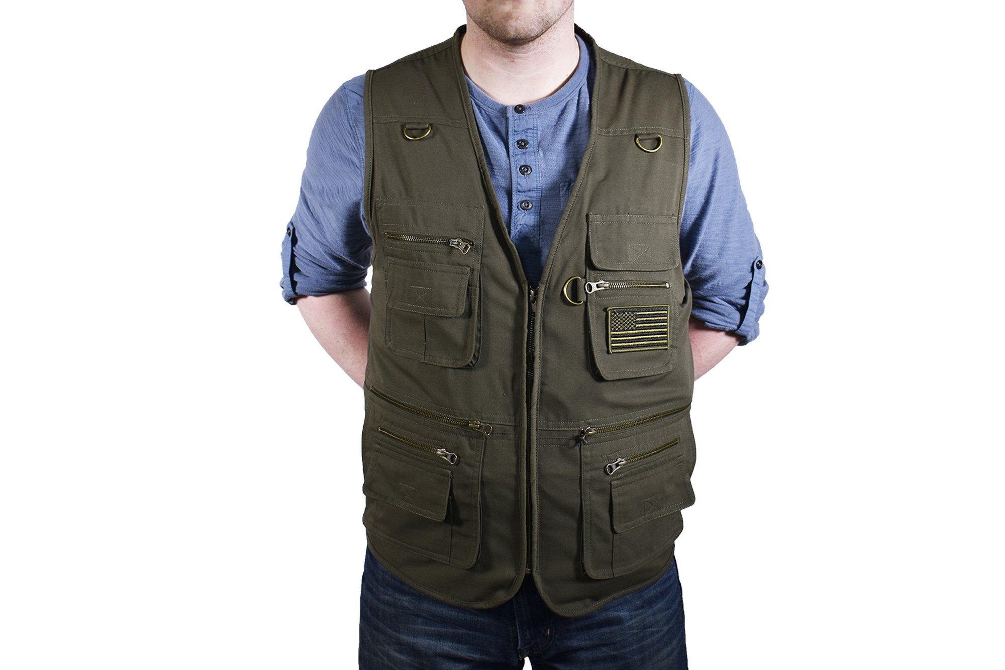 BLUESTONE Concealment Vest, XX-Large, Olive