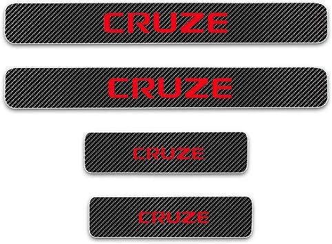 for Chevrolet Sail Aveo Cruze Epica Malibu Trax Captiva Spark Carbon Fiber Door Sill Protector Scratch Door Sill Guard 4D Welcome Pedals Guards Threshold Sticker Sticker Blue 4Pcs