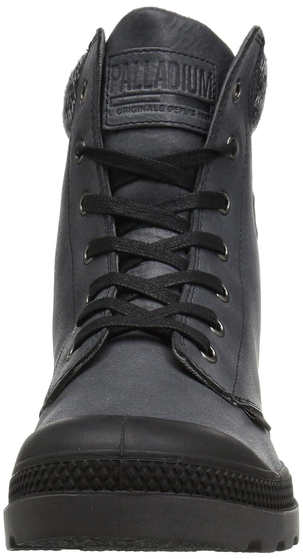 Palladium Women's Pampa Hi Knit Lp Chukka Boot B01N5VLQQO 5 B(M) US|Black/Forged Iron