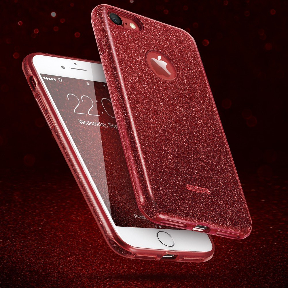 coque iphone 6 rouge paillette