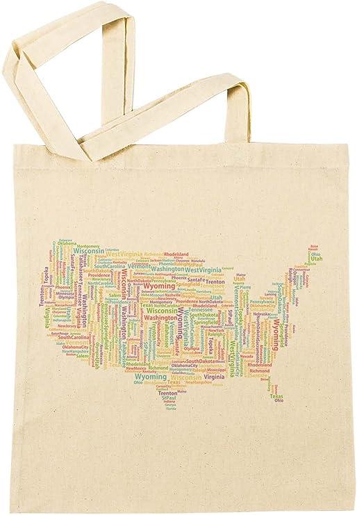 America Estados Unidos Unidos Bolsa De Compras Playa De Algodón Reutilizable Shopping Bag Beach: Amazon.es: Hogar