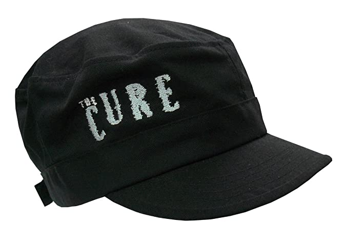 The Cure Shocking Logo Black Cadet Cap Hat New Adult at Amazon Men s ... 04467e6f492