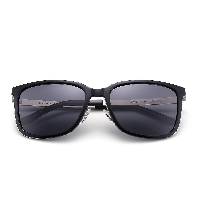 JIM HALO Leichtgewichts Polarisiert Sonnenbrille Vintage Groß Gradient Brille Damen Herren(Schildkröte/Polarisiert braun) Kp6yO1