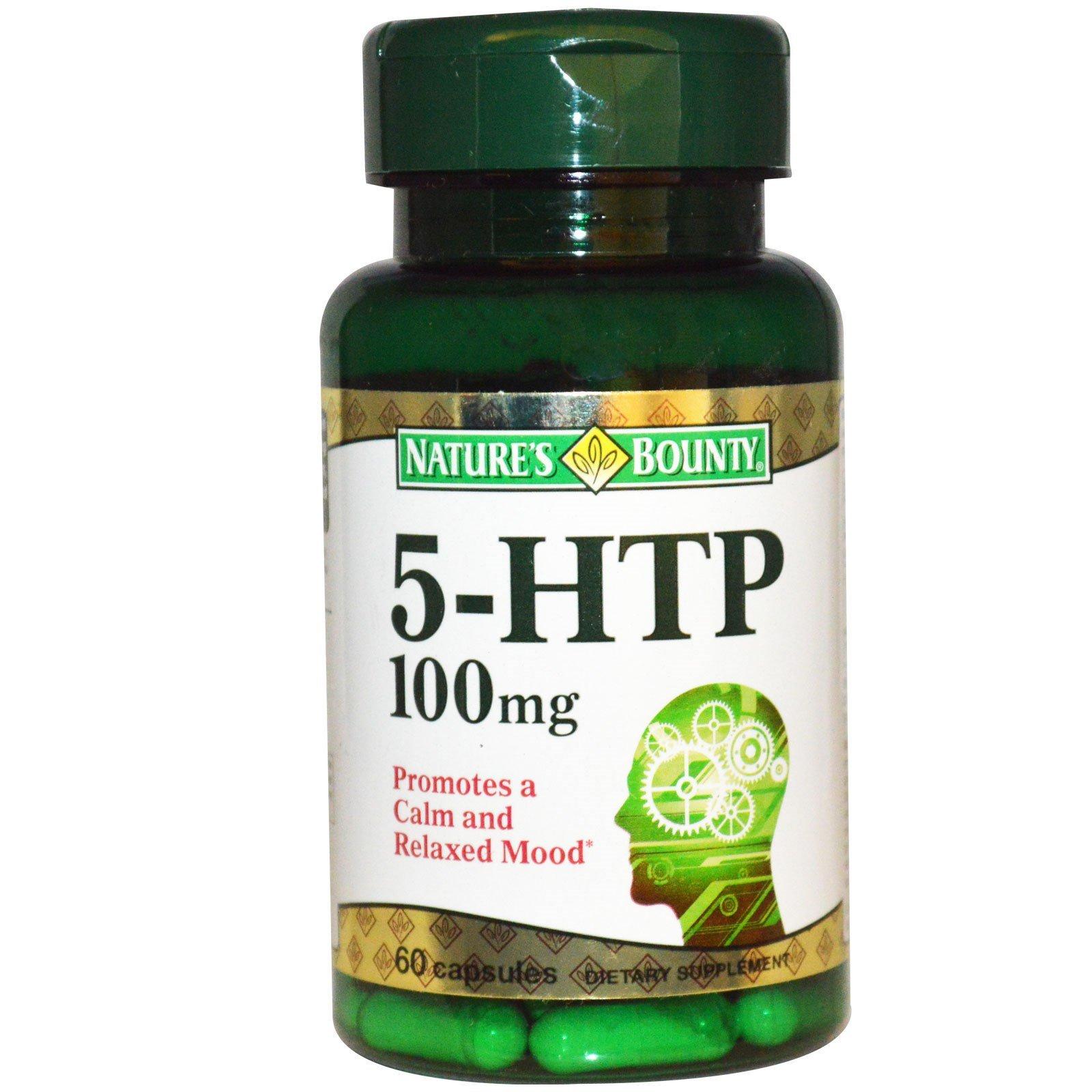 Nature's Bounty 5-HTP 100 mg Capsules 60 ea (Pack of 3)