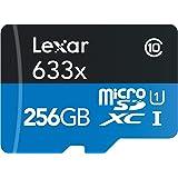 Lexar High-Performance 633x microSDXC UHS-Iカード 256GB (転送速度 95MB/s、SDアダプタ付) [並行輸入品]