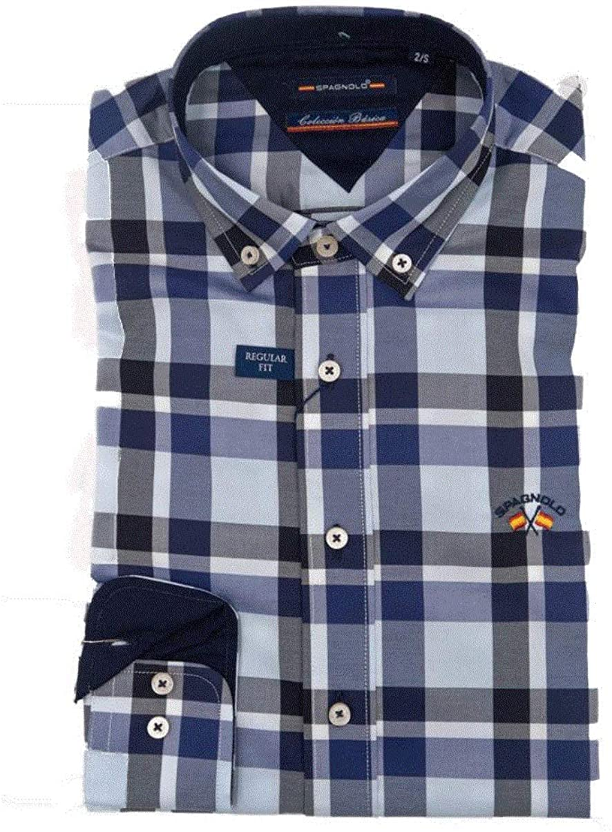 SPAGNOLO PAUL & ESTHER Camisa Cuello Boton Popelin 0025 (2/S): Amazon.es: Ropa y accesorios