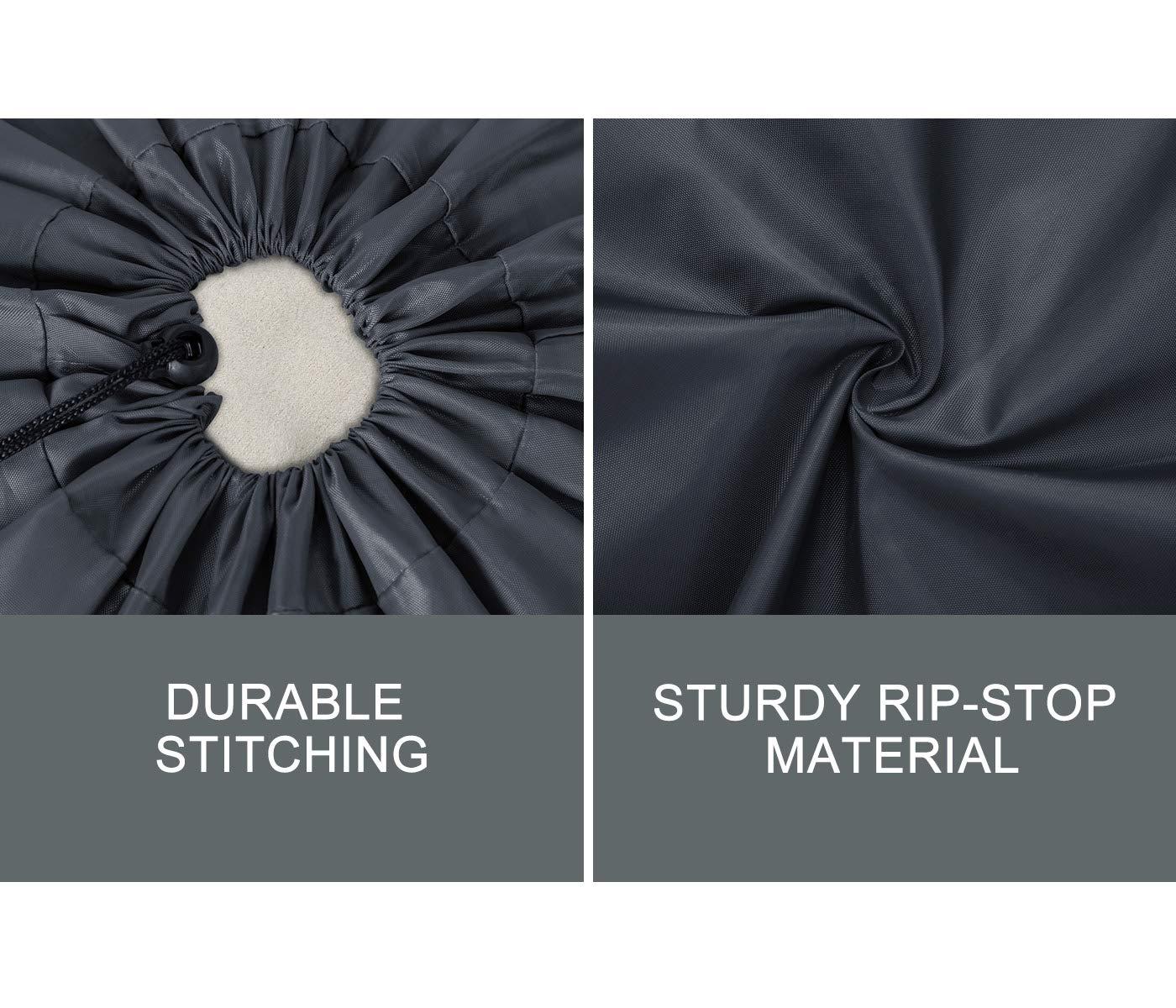 ZERO JET LAG 2 Pack Extra Large Travel Laundry Bag Set Nylon Rip-Stop Dirty Storage Bag Machine Washable Drawstring Closure 24'' x 36'' (Blue and Gray) by ZERO JET LAG (Image #4)