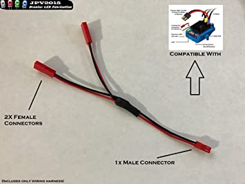amazon com traxxas vxl dual fan wiring harness jst plug splitter rh amazon com
