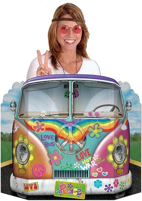 Hippie Bus Photo Prop Party Accessory (1 count) (1/Pkg)