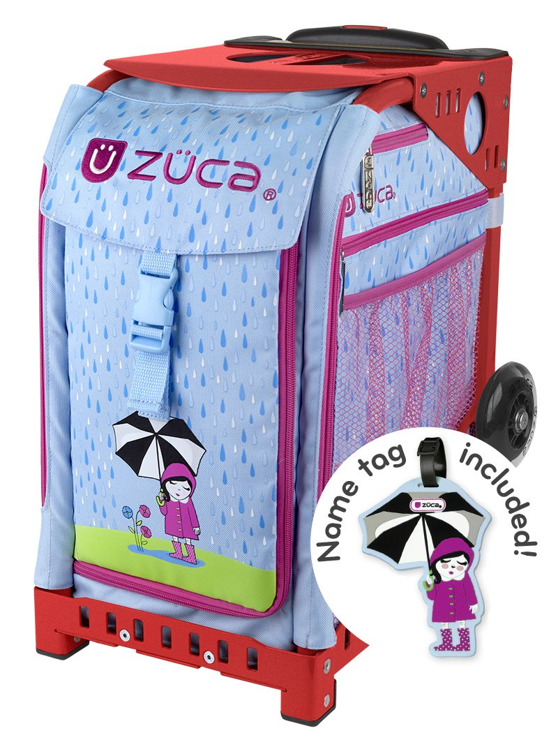 Zuca April Shower Insert Bag (with name tag) and Sport Frame (Red)