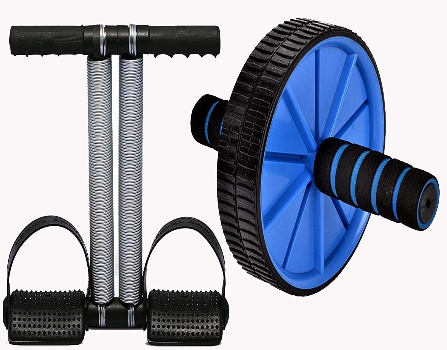 Combo of Ab Wheel Roller & Tummy Trimmer Exerciser For Home