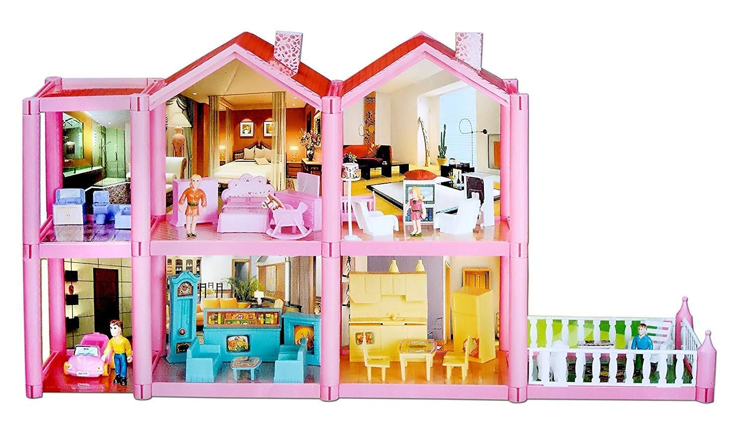 Toyshine DIY 136 Pcs Doll House Accessories Included