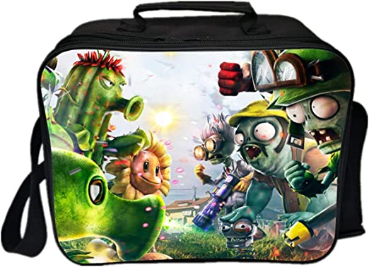 GD-Clothes Kids Plants vs. Zombies Lunch Boxes-Boys Insulated School Lunch Bag Kids Travel Picnic Lunch Cooler for Girls Boys